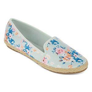Shoes - Floral Mint Espadrille Slip On Shoes Sz 9 NWT